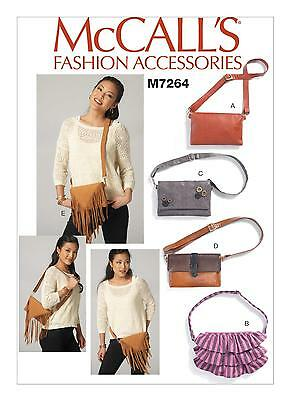McCalls SEWING PATTERN M7264 Misses Waist Purses With Convertible Strap