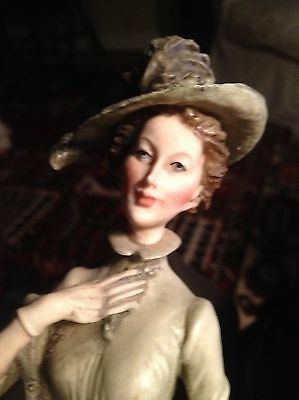 Whippet Porcelain Figurine with Italy Lovely Lady
