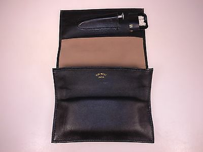 New Tim West Pipes Very Soft Leather Tri-Fold-up Combo Tools Tobacco Pouch Suede