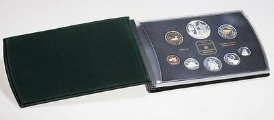 2002 Canada Double Dollar 8pc Proof Set  Sterling Silver with COA and box