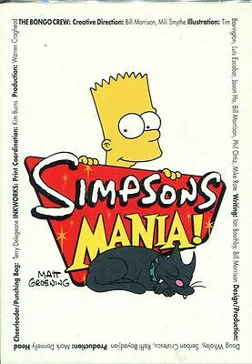 Inkworks The Simpsons Mania Complete 72 Card Base Set