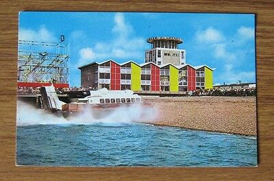 SRN6 Isle of Wight Hovercraft and Clarence Pier SOUTHSEA 1965 unused postcard ✔l