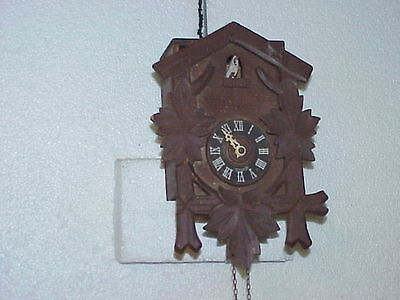 Vintage Cuckoo Clock Mfg. Co. Pendulette with Bellows parts repair A