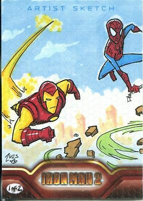 Marvel Iron Man 2 The Movie Sketch Card By Ives