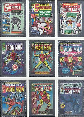 Iron Man 2 Complete Comic Covers Chase Card Set CC1-9