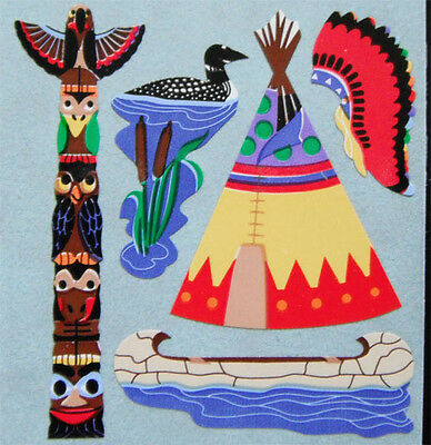 NATIVE INDIAN THEME Stickers - Sandylion Stickers - FREE SHIPPING OFFER