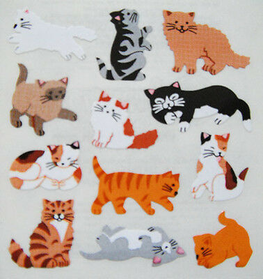 CATS KITTENS ANIMALS #12 Stickers - Sandylion Stickers - FREE SHIPPING OFFER