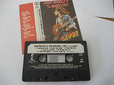 Bob Marley And The Wailers – Live! CASSETTE (Island Records – ICT 9376)