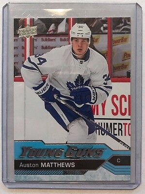 16-17 UD Series 1 Toronto Maple Leafs Auston Matthews Young Guns RC