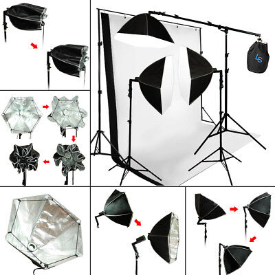 Photo Studio Photography Studio Lighting Softbox Muslin Backdrop Stand Light Kit