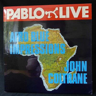 JOHN COLTRANE Afro Blue Impressions PABLO LIVE JAZZ MONO UK Press 2LP NM
