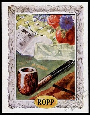 1944 Ropp pipe Raymond Femeau color art French vintage print ad