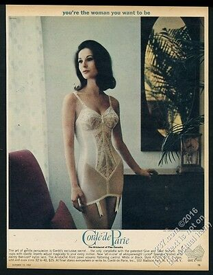 1962 Corde de Parie lycra corselette woman color photo vintage print ad