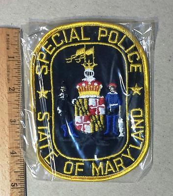 Vintage State of Maryland Sew on Cheese Cloth Special Police Patch