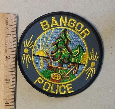 Vintage Bangor Sew on Felt Police Patch