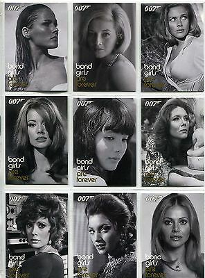 James Bond Women In Motion Complete Bond Girls Are Forever Chase Card Set BG1-20