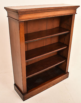 A 19th Century Antique Victorian Mahogany Open Bookcase