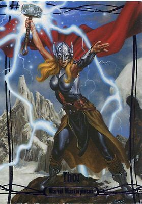 Marvel Masterpieces 2016 Purple Parallel [#/199] Base Card #52 Thor