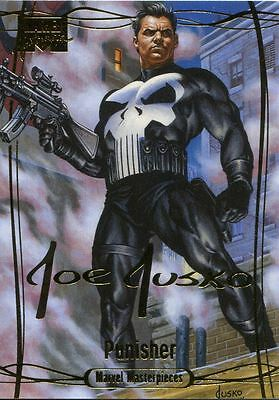 Marvel Masterpieces 2016 ''Gold Signature'' Base Card #73 Punisher