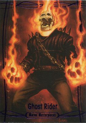 Marvel Masterpieces 2016 Purple Parallel [#/199] Base Card #68 Ghost Rider
