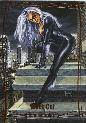 Marvel Masterpieces 2016 Orange Parallel [#/99] Base Card #33 Black Cat