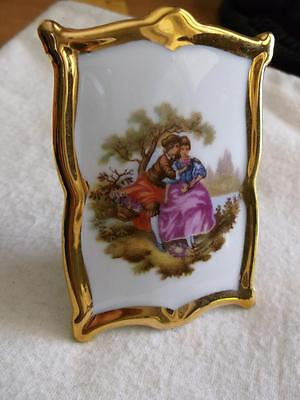 Meissner Limoges France Depicting French Regency Couple In Woodland