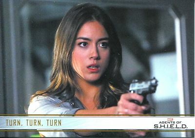 Agents Of Shield Season 1 Gold Parallel Base Card #54 Turn, Turn, Turn
