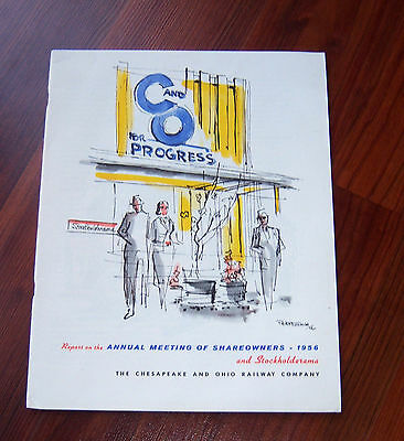 1956 Chesapeake and Ohio Railway Company Train Annual Report Shareowners