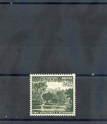 NAURU Sc 46(SG 55)**VF NH 1954 2SH6D DEEP GREEN $11