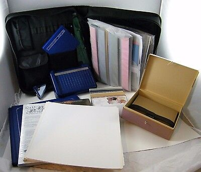 Huge Lot Of Creative Memories Scrap Booking Binder, Page Protectors, Album, Etc