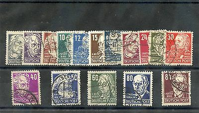 GERMANY(AL OCC) Sc 10N29-41(MI 212-27)F-VF USED 1948 RUSSIAN ZONE SET $55