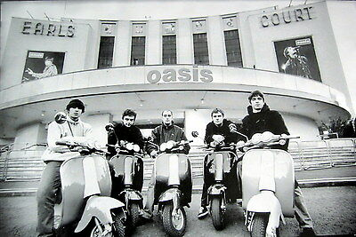 """OASIS """"BAND SITTING ON SCOOTER BY EARL'S COURT"""" POSTER FROM ASIA - Britpop Music"""