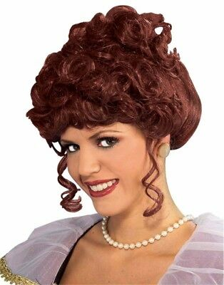 Adult Womens Brown Colonial Marie Maiden Antoinette Victorian Costume Wig