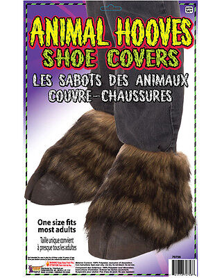 Adults Fuzzy Furry Animal Hoof Hooves Boot Tops Costume Accessory