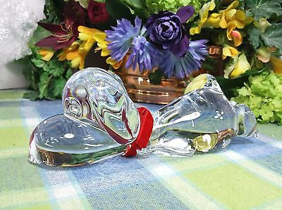 Snoopy Peanuts Marcolin Crystal Snoopy Laying down Figurine