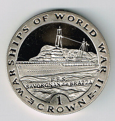 Gibraltar 1993 1 Crown Warships Of World War Ii Series - Ffs Savorgnan De Brazza