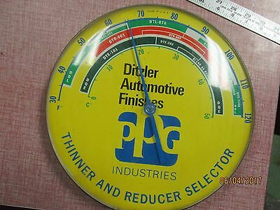 Ditzler Paint Automotive Advertising Thermometer PPG Industries