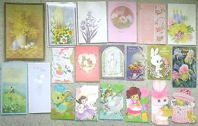 Lot of 20 Vintage 1960's-70's Used Easter Cards, Hallmark,AmericanGreeting,&More