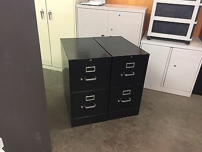 2 DRAWER LETTER SIZE FILE CABINET by HON OFFICE FURNITURE in BLACK COLOR