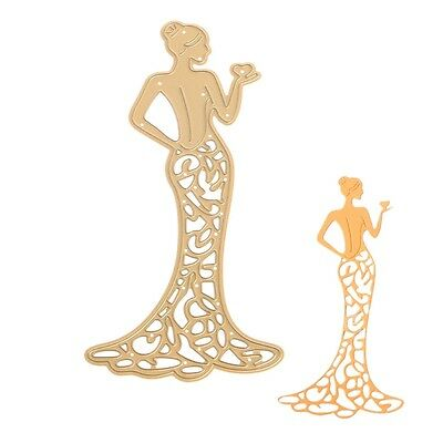 Beauty Lady Metal Cutting Dies Stencil Scrapbooking Card Paper Embossing Craft