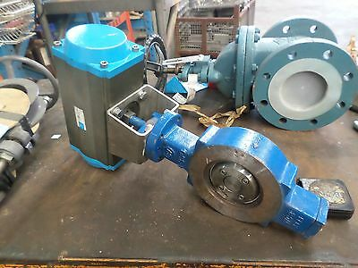 Mc canlock Butterfly Valve gate valve with pnuematic control #K