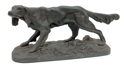 VINTAGE RUSSIAN SOVIET CAST IRON Hunting Setter Dog Sculpture Figurine Decor
