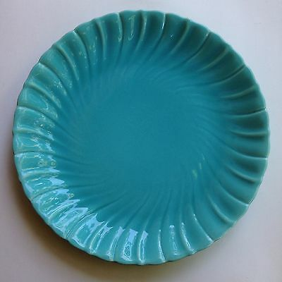 "14"" Gladding McBean Turquoise Charger Platter Large Swirl Plate"