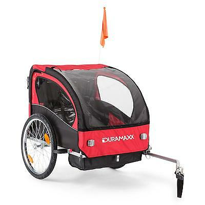Child Kids Bike Trailer Jogger Suspension Stroller Double Seat Strap Flag Wagon