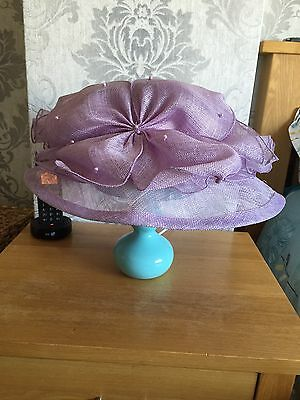 Lilac Hat Mother Of The Bride. Wedding Races  No Reserve