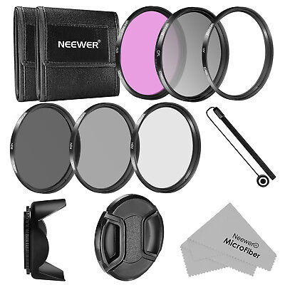Neewer 52MM Camera Lens Filter (UV/CPL/FLD/ND2/ND4/ND8) Accessory Kit