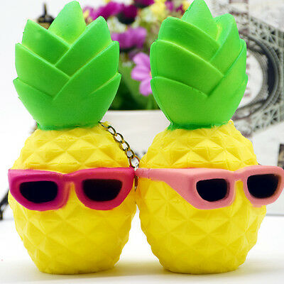 Squishy Pineapple Fruit Squeeze Slow Rising Phone Strap Relieve Soft Stress Toy