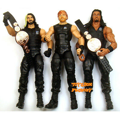 WWE Then Now Forever The Shield Mattel Exclusive Action Figure Wrestling Toys