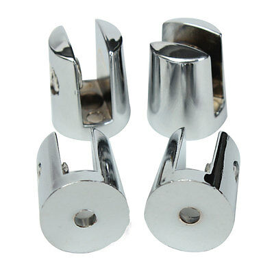 4/8/12 Shelf Support Glass Bracket Clamp Clip Small 4-6mm Polished Chrome Finish
