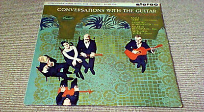 LAURINDO ALMEIDA CONVERSATIONS WITH GUITAR 1st UK Capitol Stereo LP 1961 Bossa
